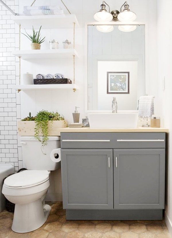 fresh small bathroom