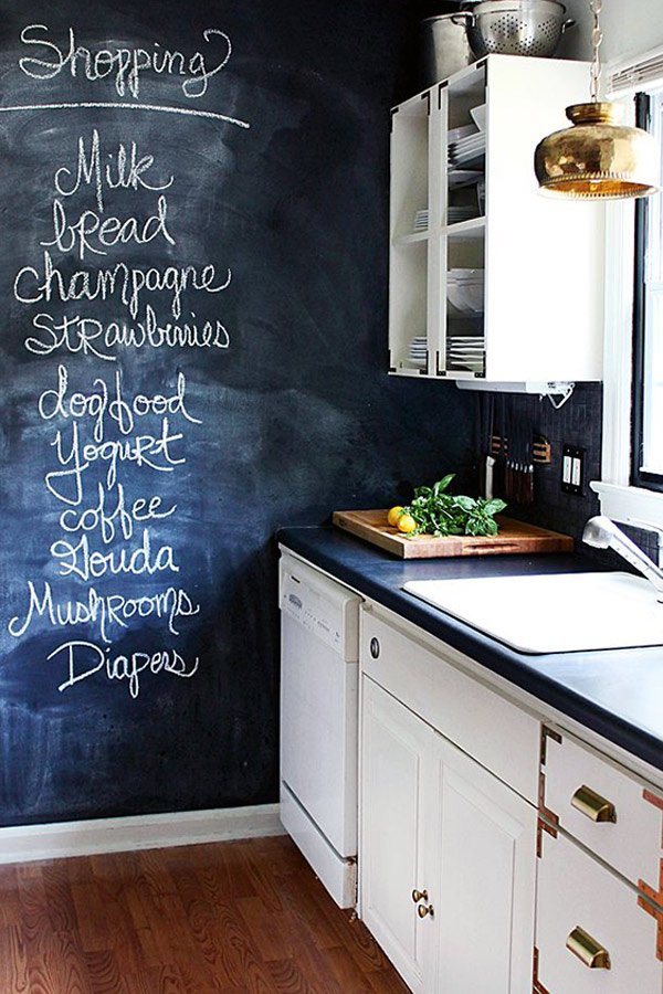 kitchen black board design