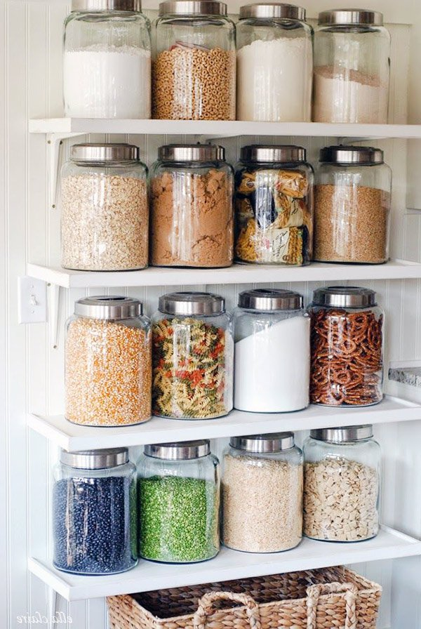 kitchen glass jar design idea