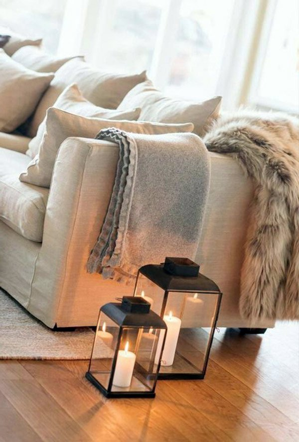living room throw blanket idea