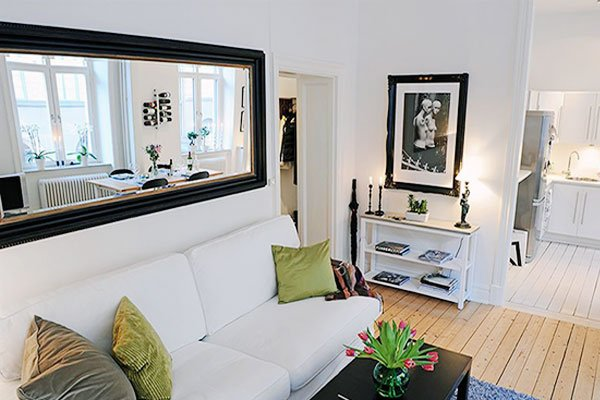 small living room mirror