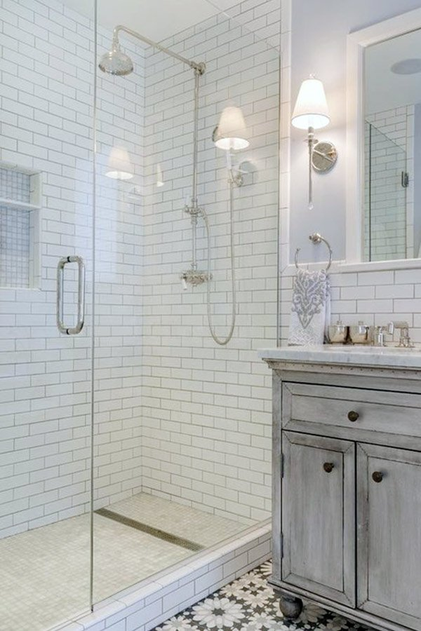 vintage stylish bathroom
