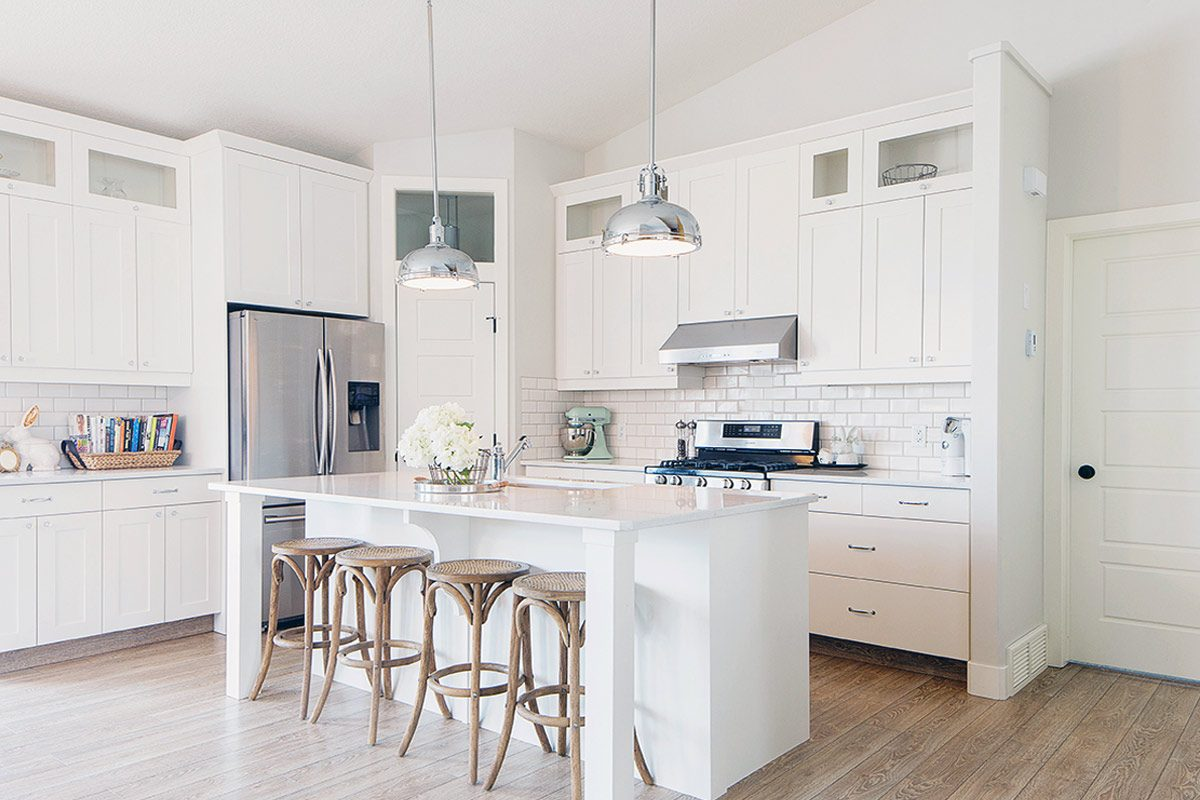 All-White Kitchen Design Ideas