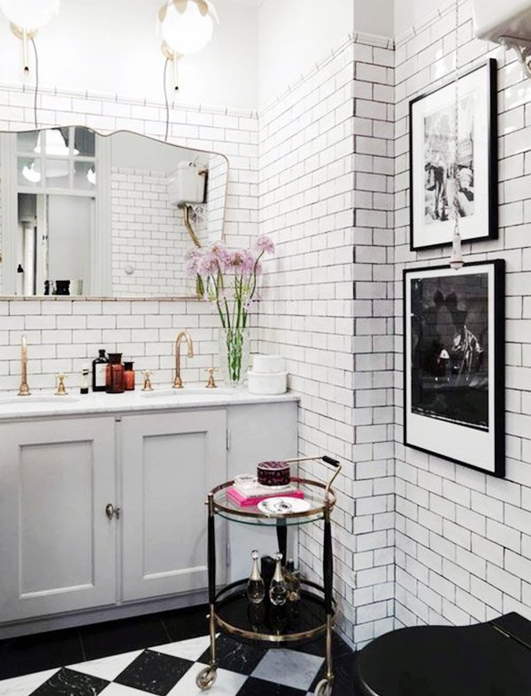 white vintage bathroom