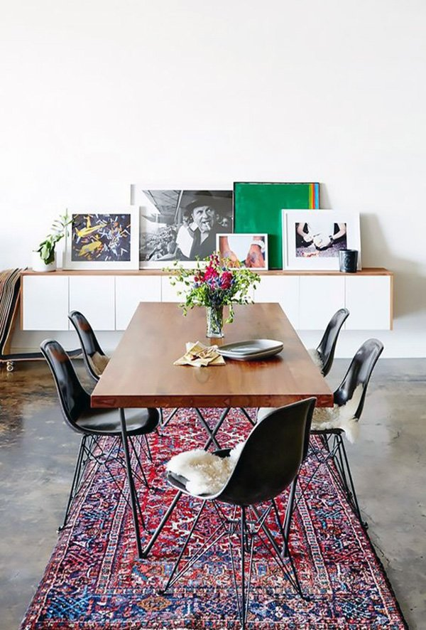 Minimalist dining table design