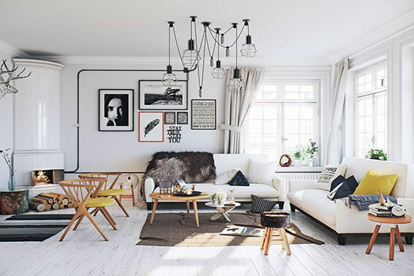 Scandinavian living room design inspirations