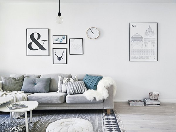 Scandinavian touch to your living room