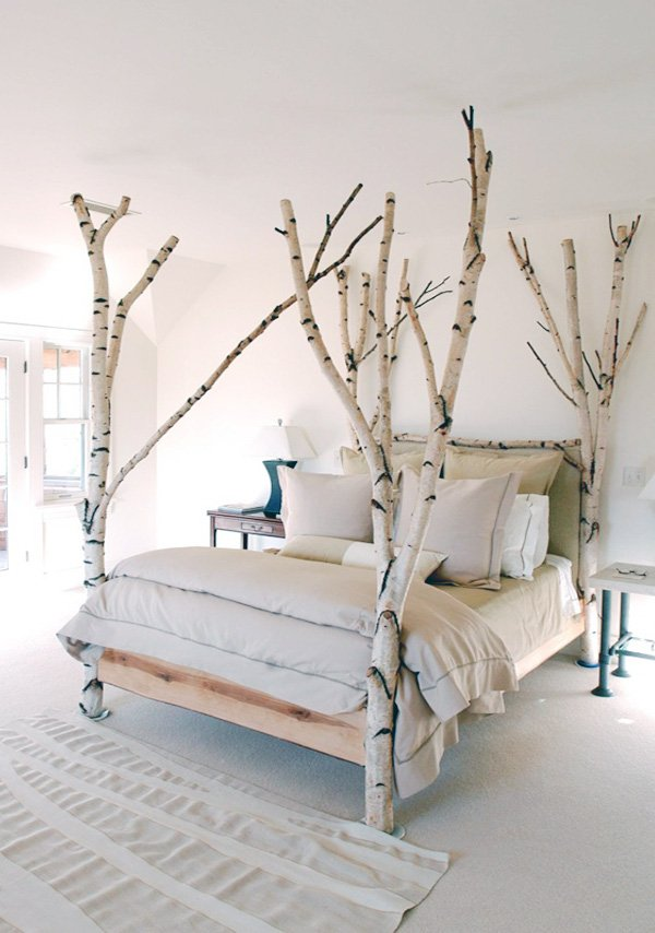 bedroom design with tree concept