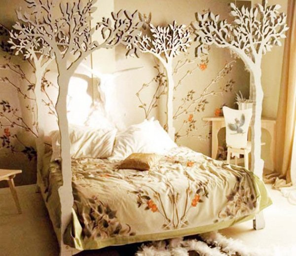 bedroom design with tree style