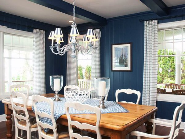 blue dining room design ideas