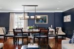 blue modern dining room design