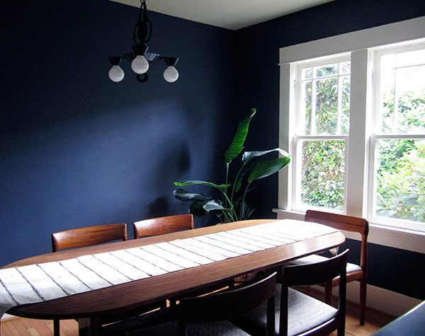 blue stylish dining room design idea