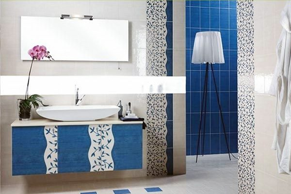 Blue & White Bathroom Decorations