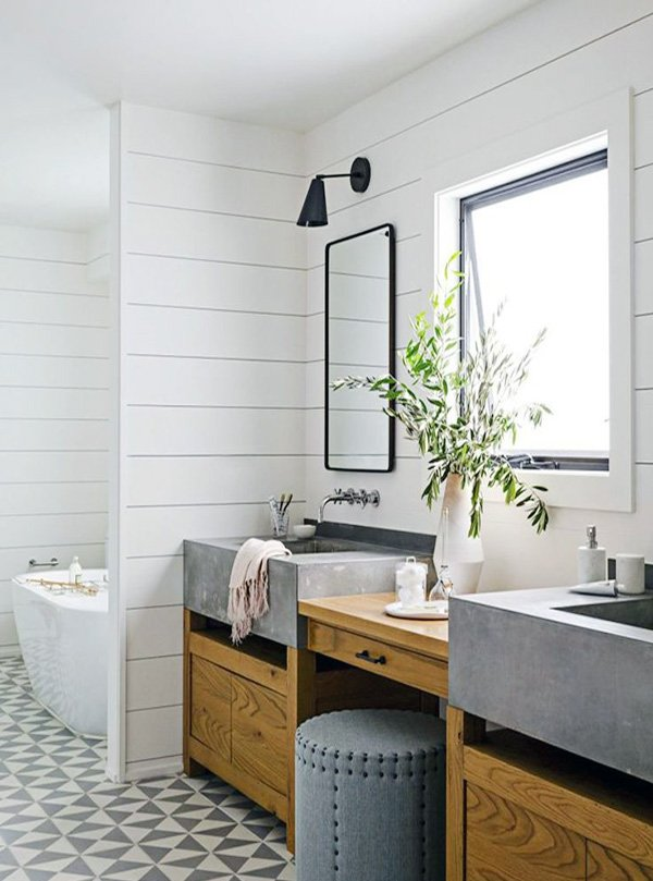bright bathroom design