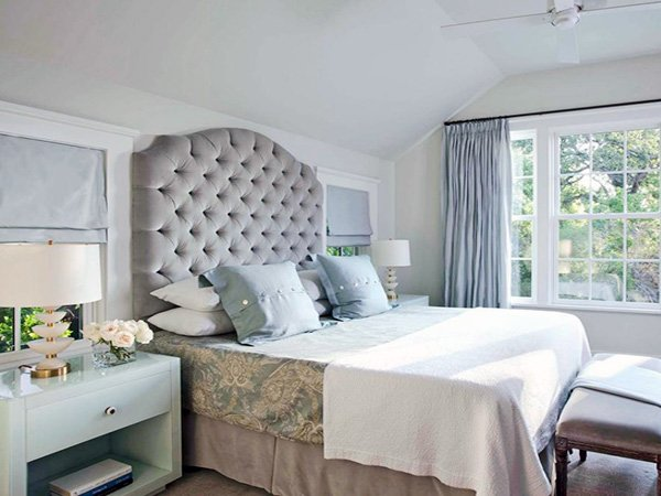bright gray bedroom design