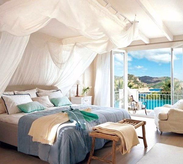 bright romantic bedroom design