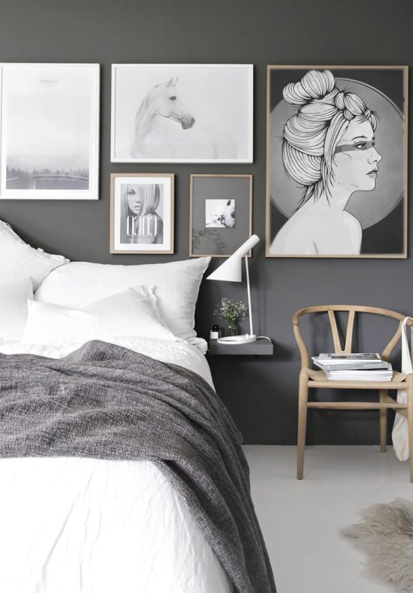 charming grey bedroom