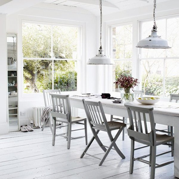 charming white dining room