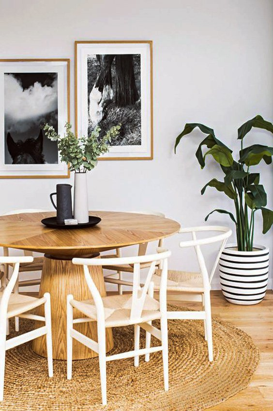 charming wooden dining table