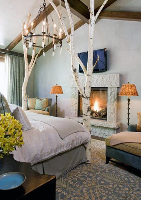 chic bedroom decoration with natural concept