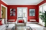 chic touch to your living room with red walls