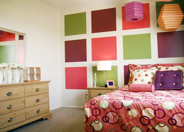 colorful teen bedroom design idea