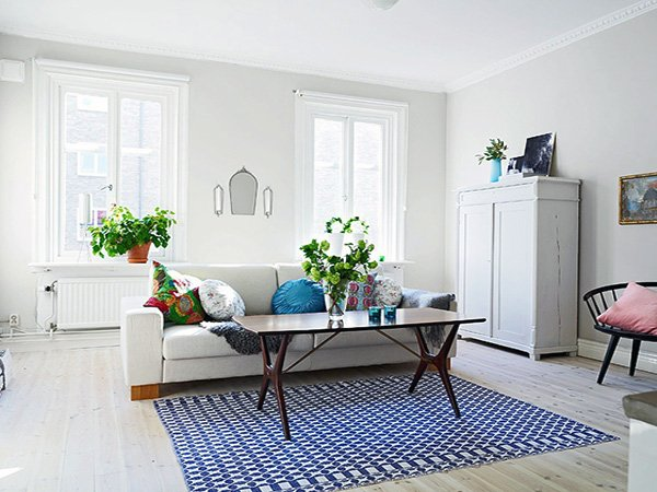 fresh Scandinavian Living Room design idea