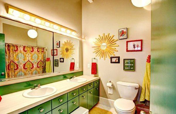 green bathroom design