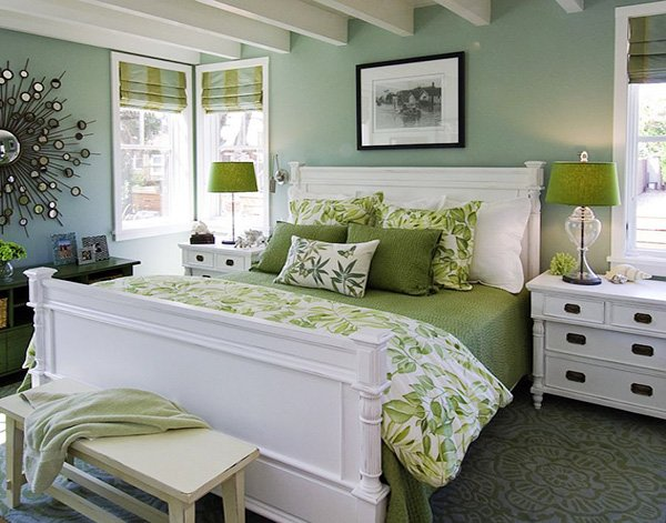 green bedroom design ideas