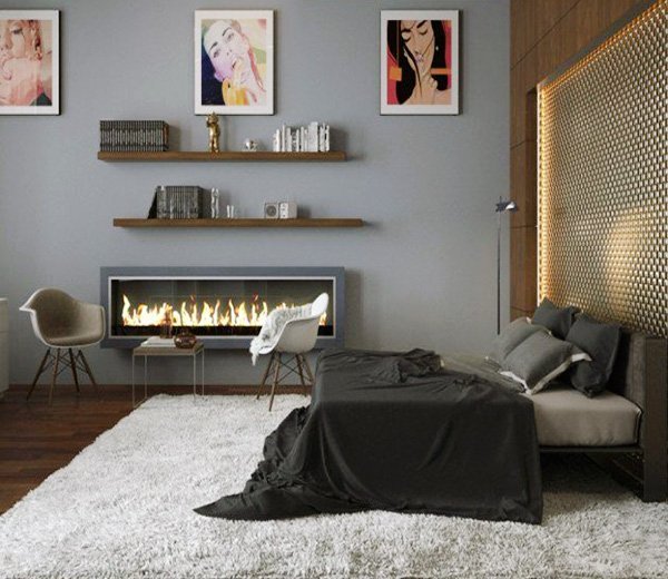 grey bedroom decoration