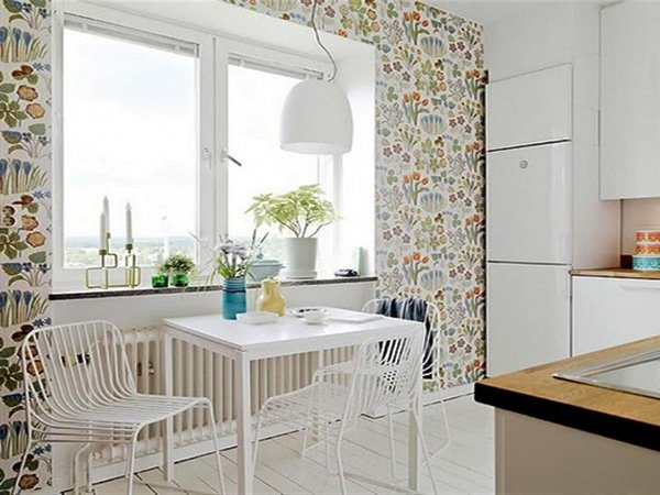 kitchen dining space wallpaper