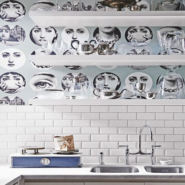 kitchen wallpaper design idea