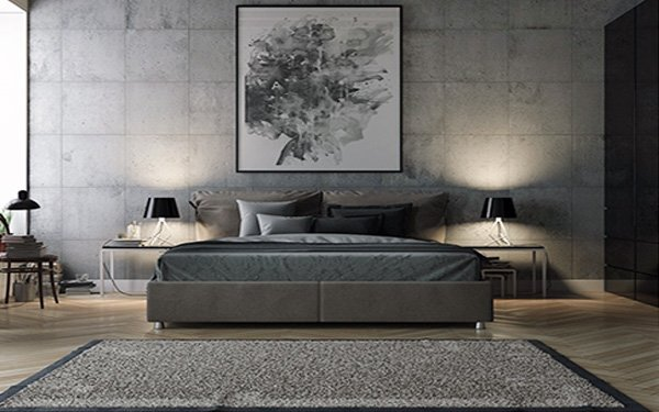 large grey bedroom design