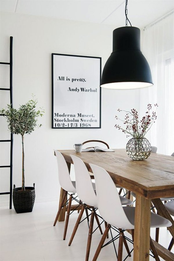 minimal touch to your dining room