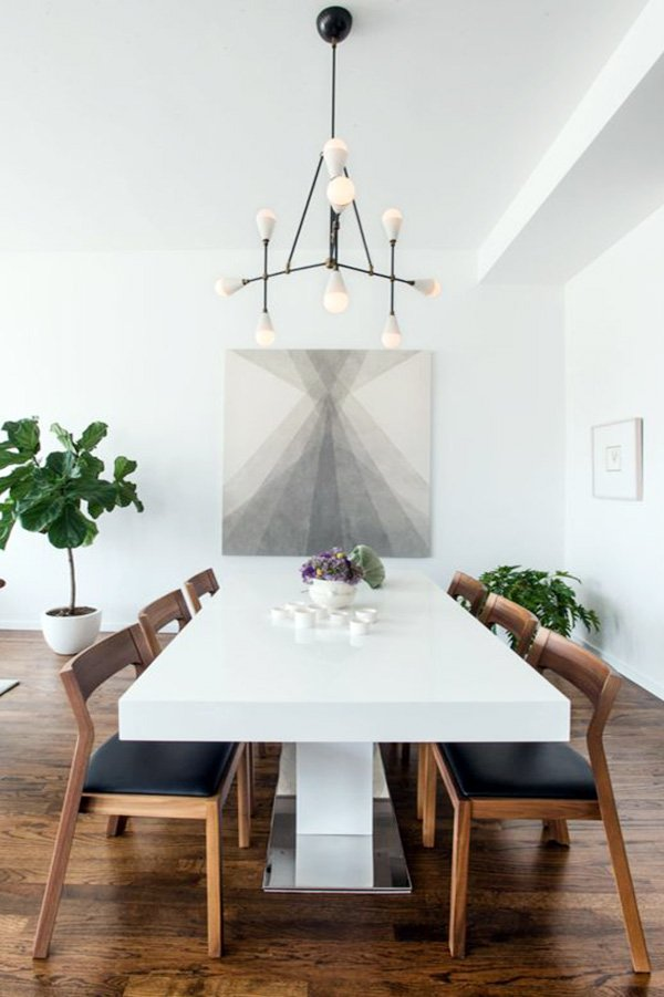 minimalist dining room decor 2017