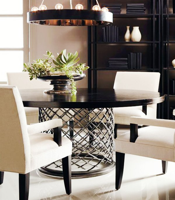 modern metalic round table design