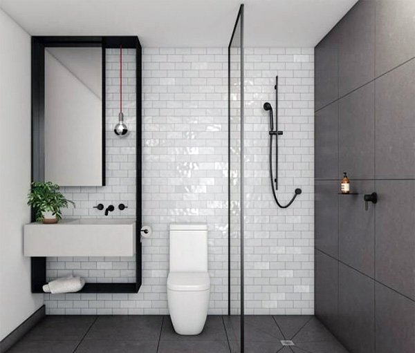 small but modern bathroom design