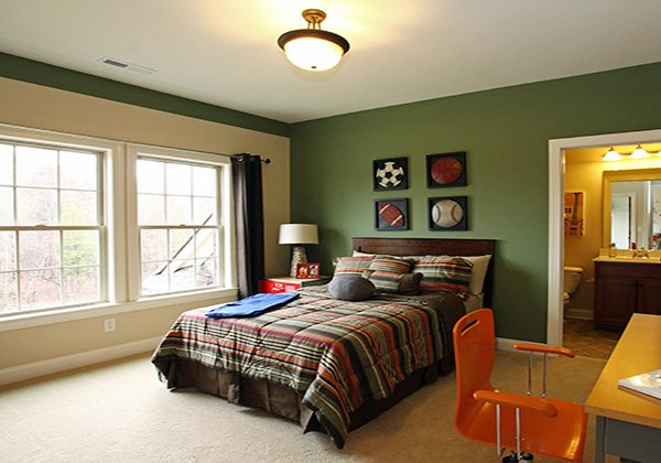 stylish green boys bedroom