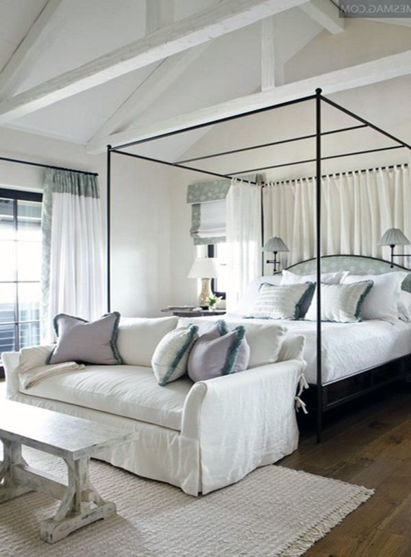stylish white bedroom decoration