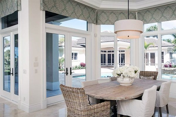 stylish white dining room design