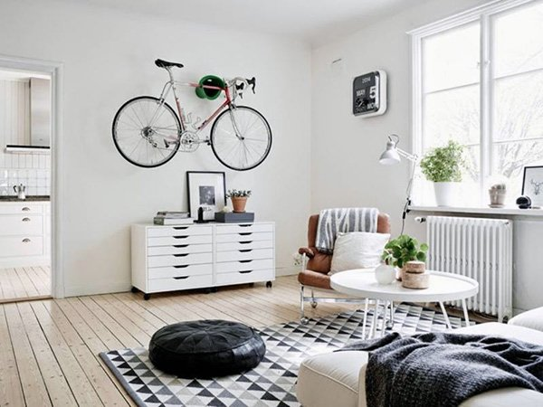 well decorated cosy Scandinavian Living Room