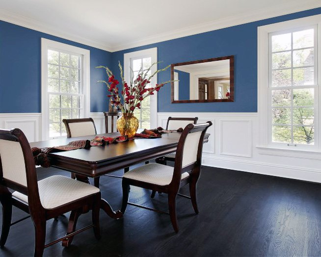 white blue dining room design