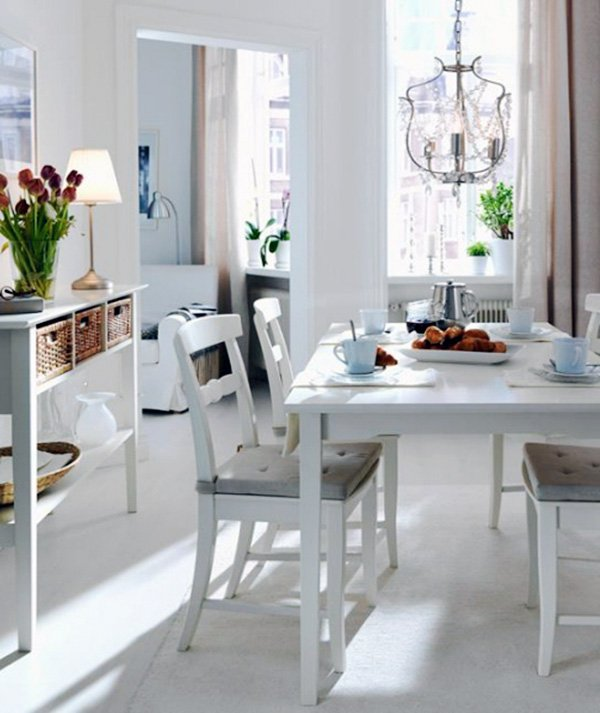 white dining room designs