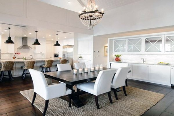 white dining room interior design