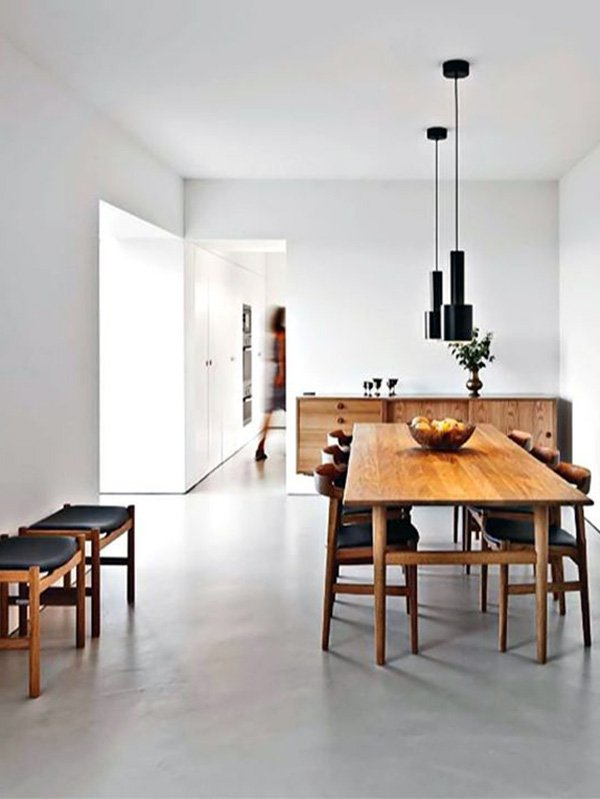 white minimal dining room design ideas