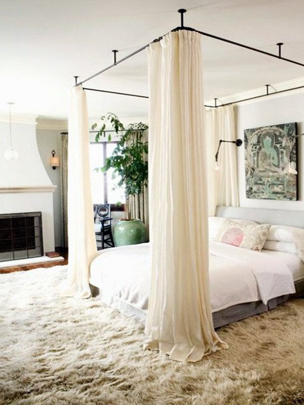 white romantic bedroom design idea
