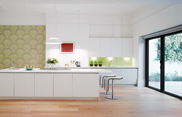 white stylish kitchen design