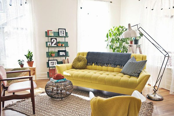 Spicing Up the Room: Mustard Yellow Living Rooms