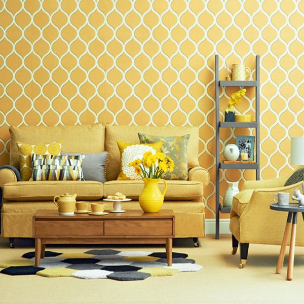 Mustard Yellow Living Room ideas