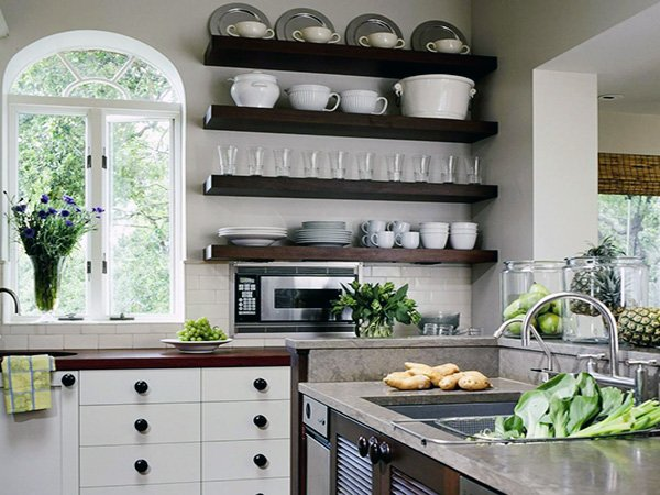 Open Kitchen Shelving Ideas